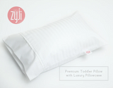 Zyji Luxury White Toddler Pillowcase