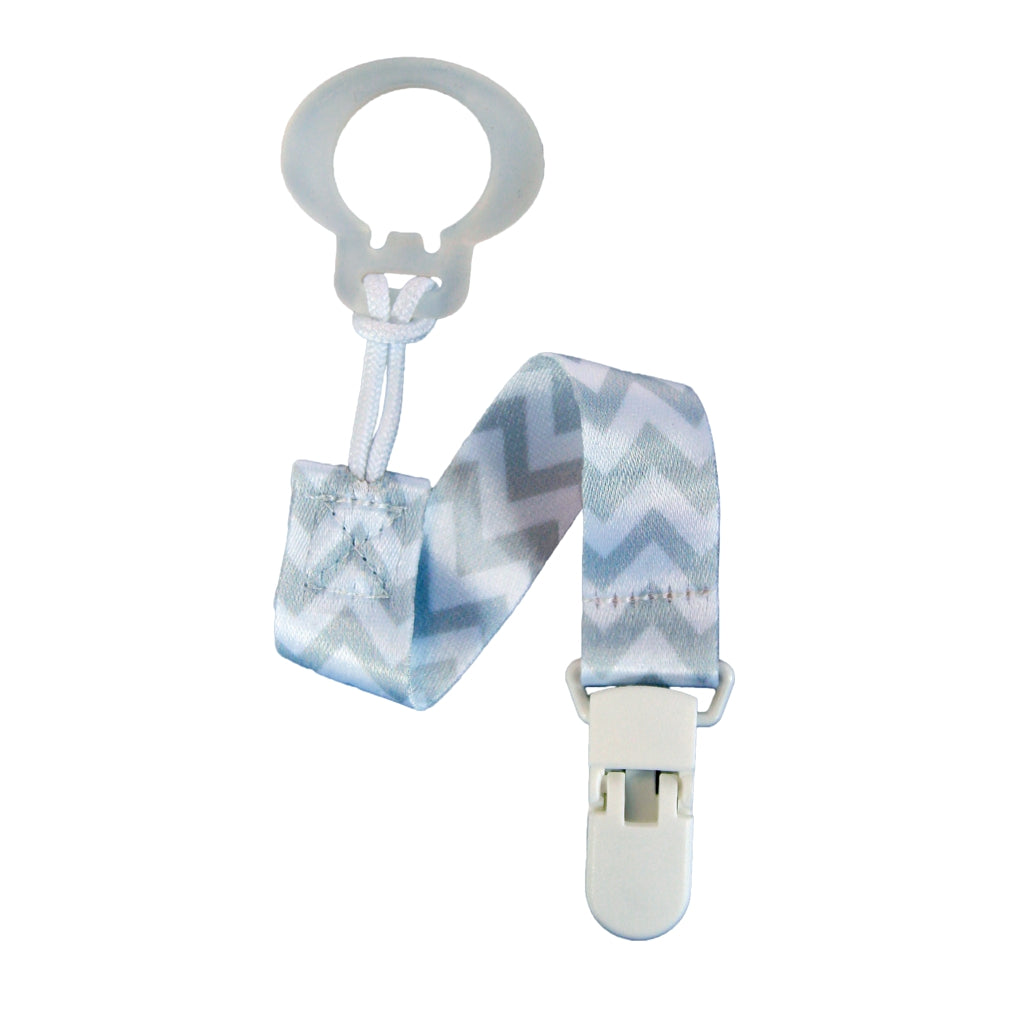 RaZBaby Pacifier Holder – Grey Chevron