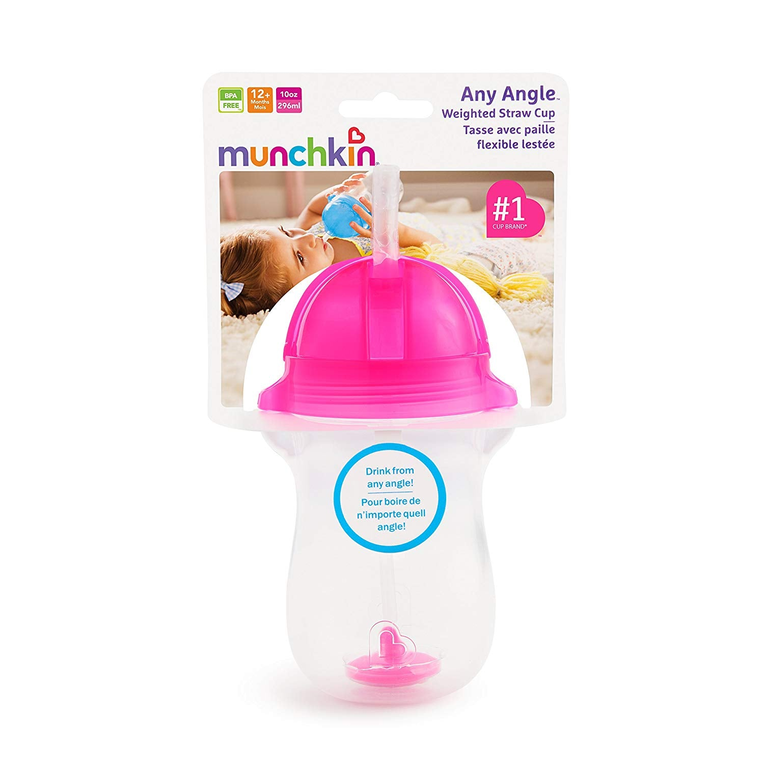 Munchkin Click Lock Weighted Straw cup 10oz