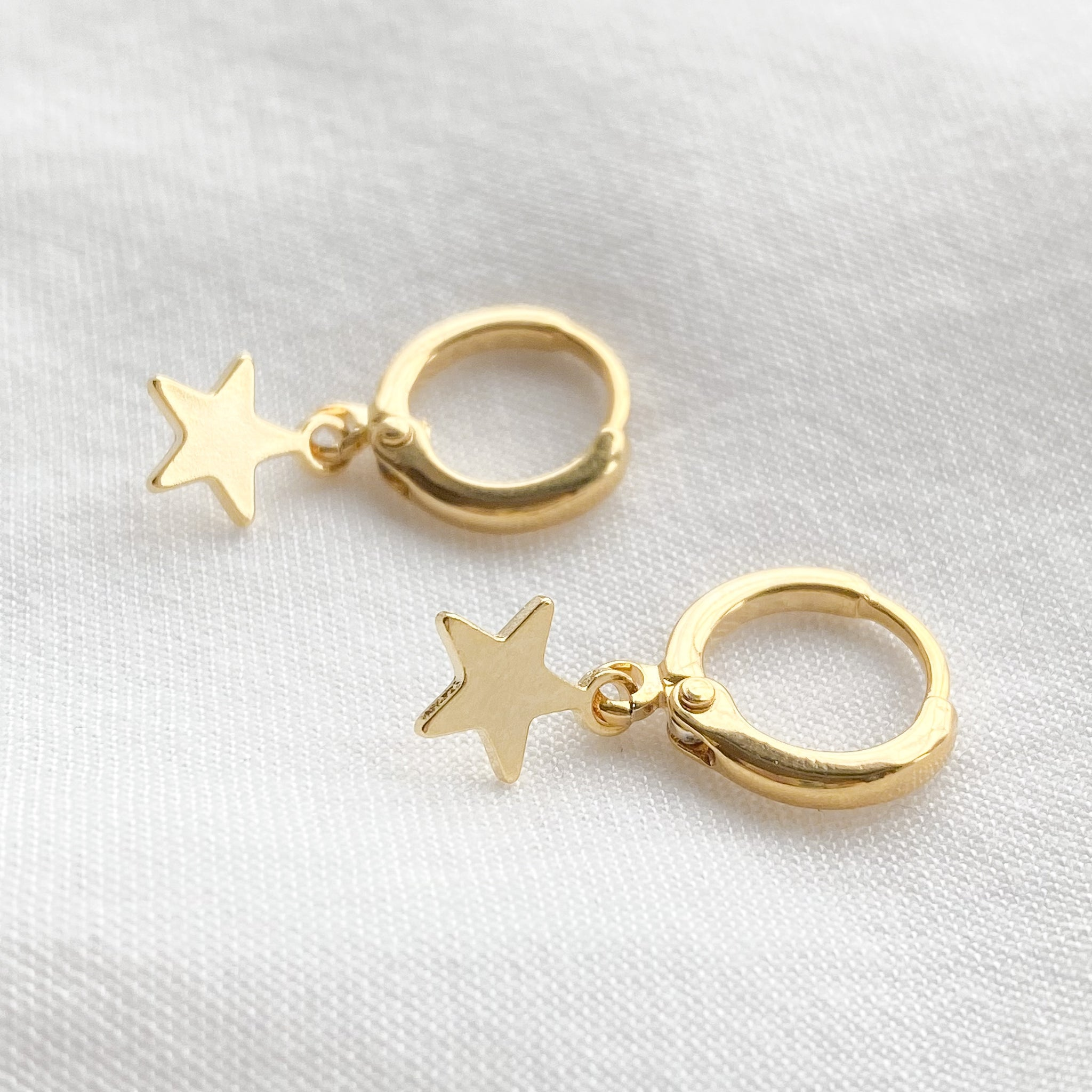 Star Huggie Hoop Earrings