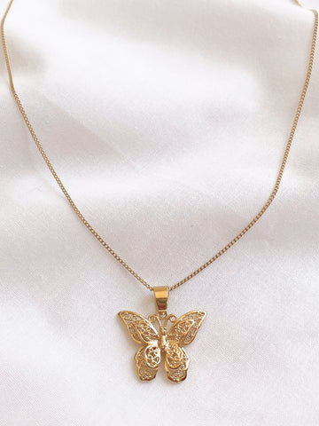 Gold Butterfly Of Dreams Necklace