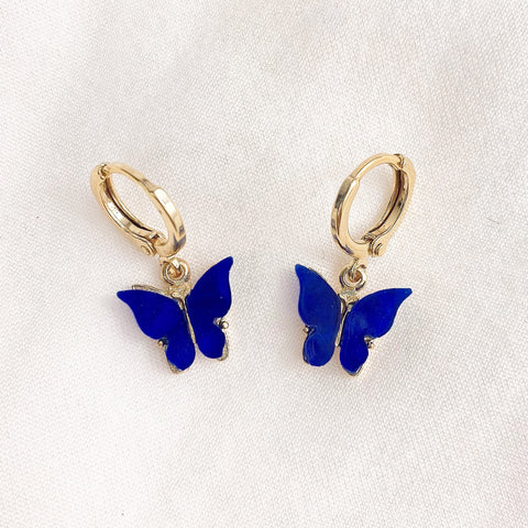 Royal Blue Butterfly Earrings