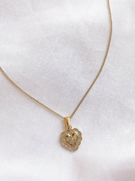 Love Heart Cross Necklace