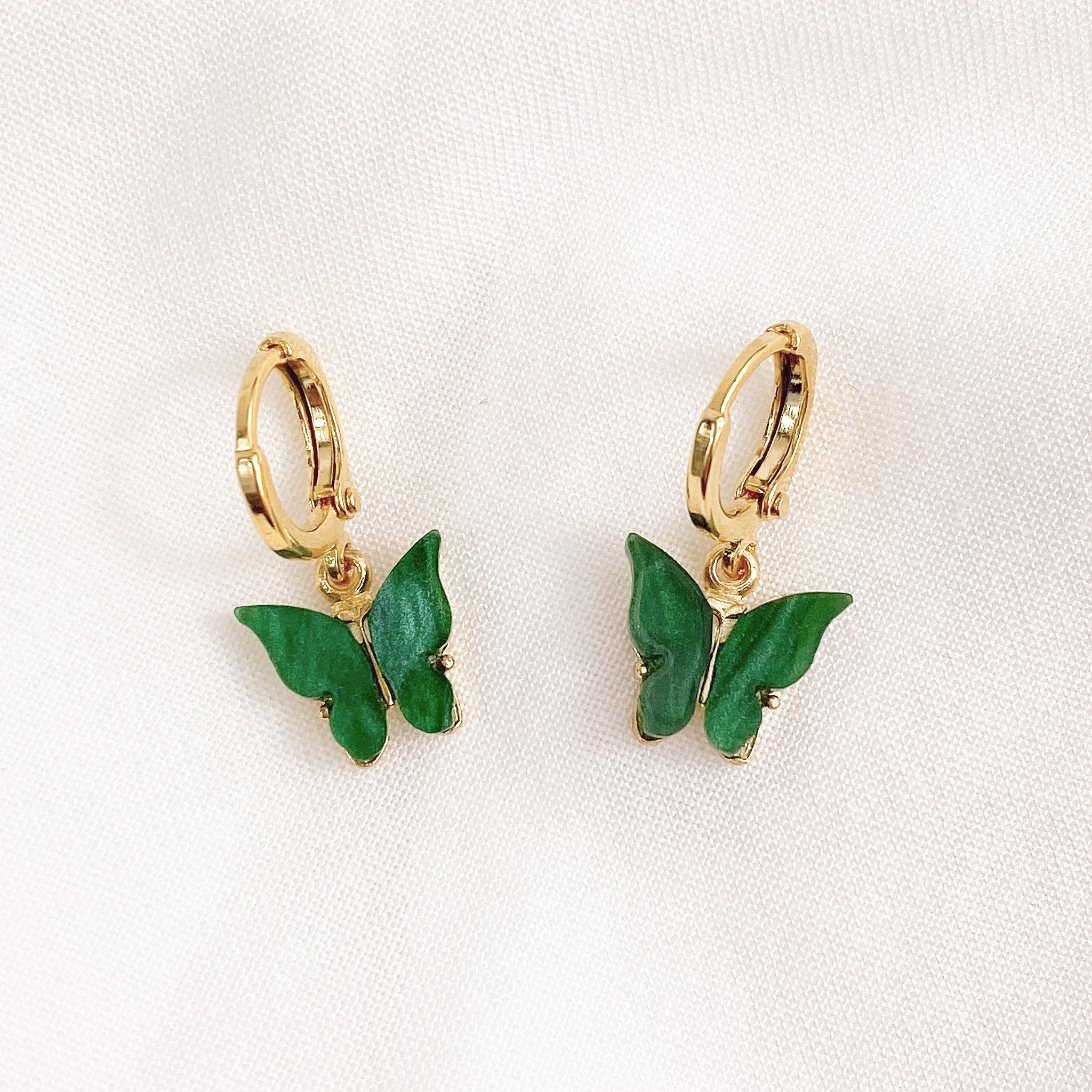 Forrest Green Butterfly Earrings