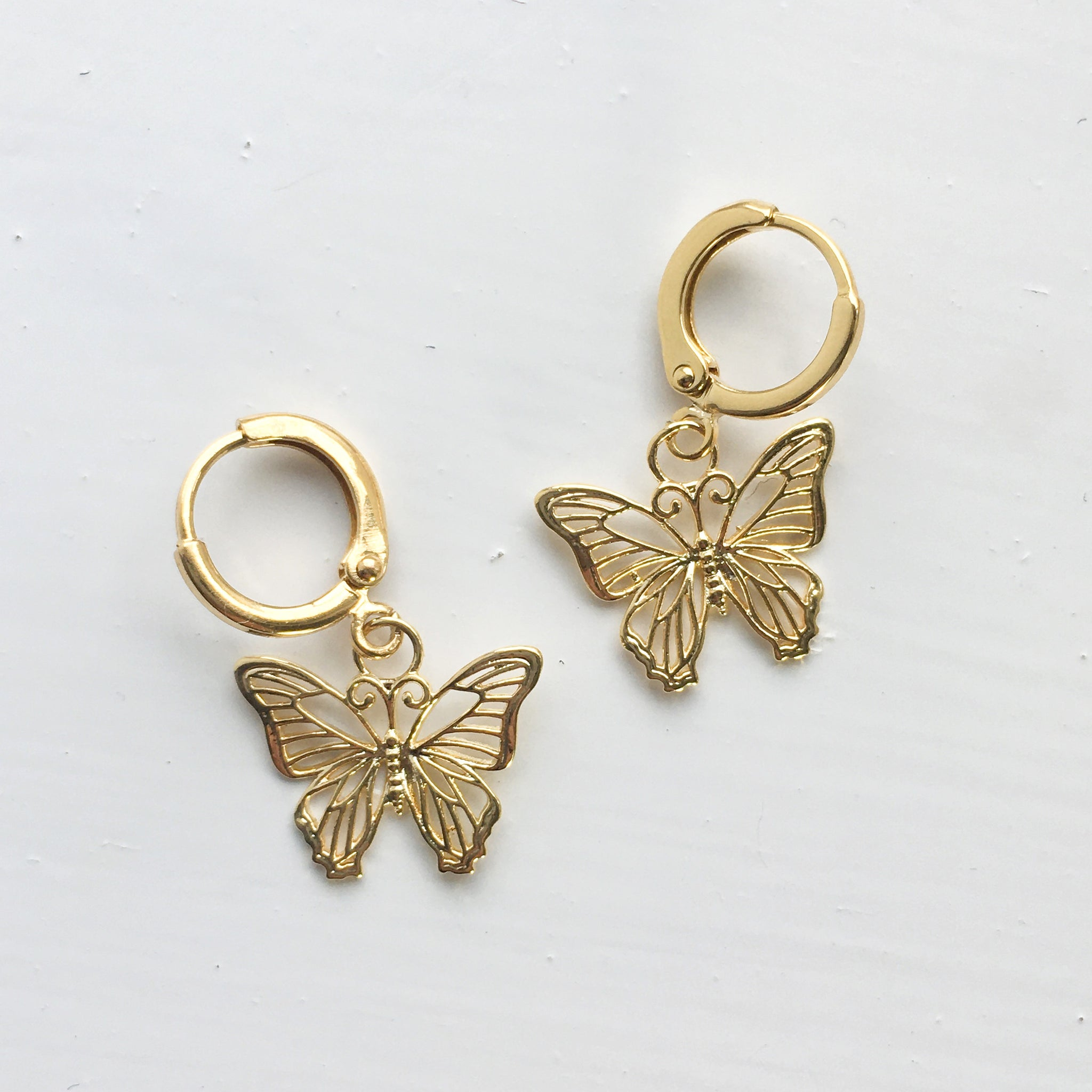 Delicate Butterfly Earrings