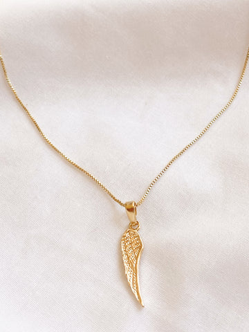 Angel Wing Gold Necklace