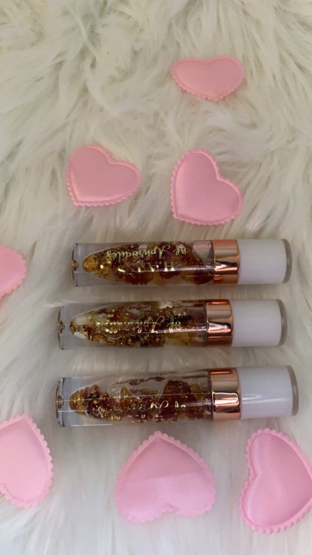 Aura rose lip oil