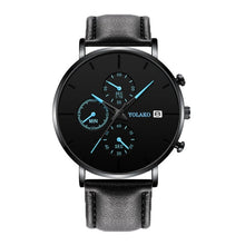 Load image into Gallery viewer, Blue Pointer Men Watch Quartz Casual Simple Alloy Mesh Matte Male Business Temperament Calendar Wrist Watch Relojes Para Hombre