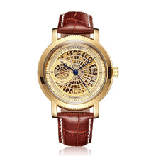 Load image into Gallery viewer, Gold Automatic Mechanical Watch Men Skeleton Watches Bracelet Wristwatch Luxury Brand Mechanical Clock Male Self-winding