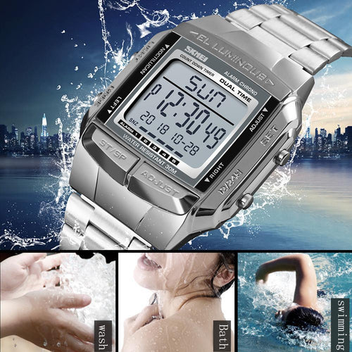SKMEI Waterproof Mens Watches Top Brand Luxury Clock Military Sports Watches Electronic LED Digital Watch Men Fashion Clock