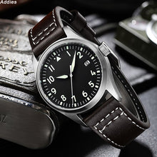 Load image into Gallery viewer, Divier Watch 200m Waterproof Mens Wristwatch Leather Strap NH35 Automatic Mechanical Japan Movement Male Watch Luxury Pilot