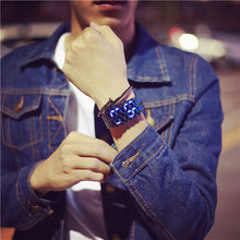 Load image into Gallery viewer, korean style men women digital wristwatches creative LED light electronic male female clock fashion casual couple bracelet watch