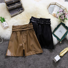 Load image into Gallery viewer, PU Fashion Wide Leg Classic Shorts
