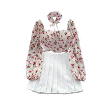 Load image into Gallery viewer, Fashion Printed Shirt + Pleated Skirt