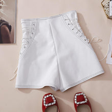 Load image into Gallery viewer, PU Fashion High Waist Shorts