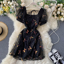 Load image into Gallery viewer, Fashion Butterfly Mesh Midi Dress