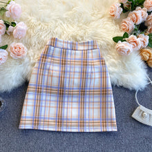 Load image into Gallery viewer, Fashion Color Matching Plaid Skirt