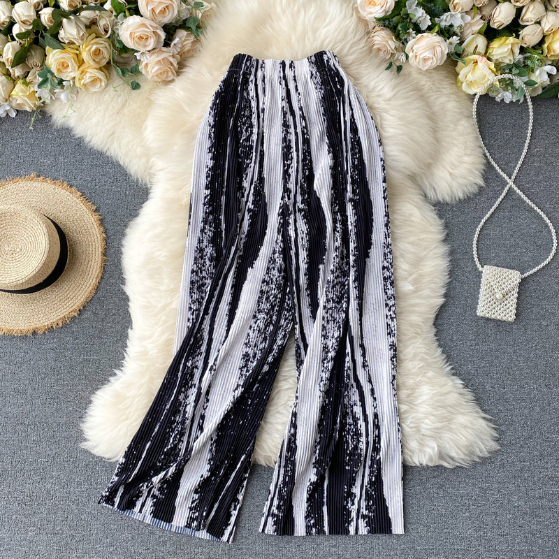 Tie-Dye Straight Tube Loose Casual Pants