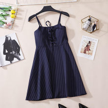 Load image into Gallery viewer, Fashion Striped Suspender Dress