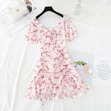Load image into Gallery viewer, Sweet V-neck Floral Chiffon Dress