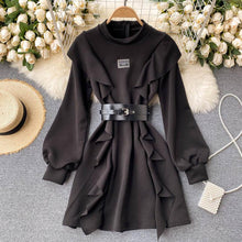 Load image into Gallery viewer, Temperament Puff Sleeve Dress