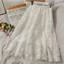 Load image into Gallery viewer, Sweet Beading Embroidered Mesh Skirt