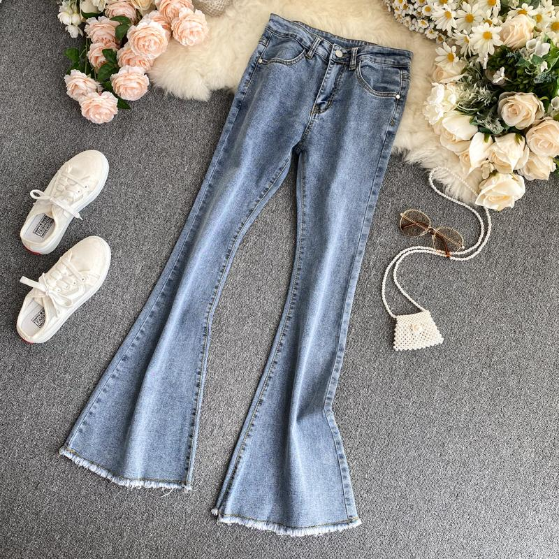 Vintage FashionFrayed Flared Pants