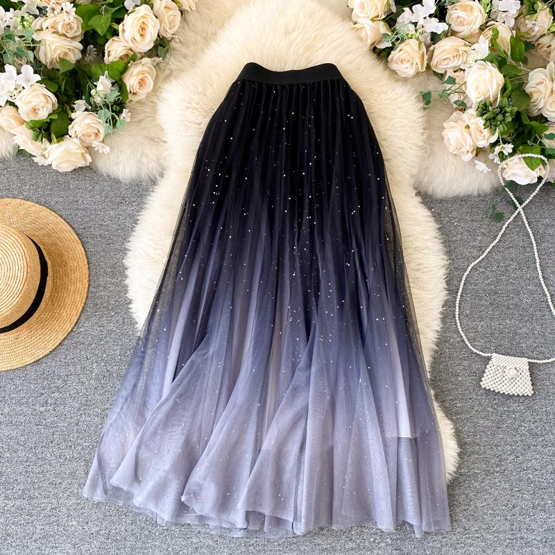 Fashion Color Changing  Mesh Skirt