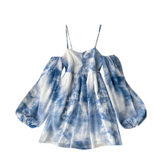 Load image into Gallery viewer, Fashion Tie-dye Suspender Dress