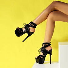 Load image into Gallery viewer, Camila Lace Up Platform Sandals