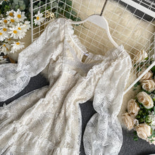 Load image into Gallery viewer, Sweet Puff Sleeve Lace Dress