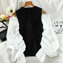 Load image into Gallery viewer, Fashion Pleated Puff Sleeve Shirt