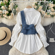 Load image into Gallery viewer, Fashion Puff Sleeve Shirt + Waist Seal