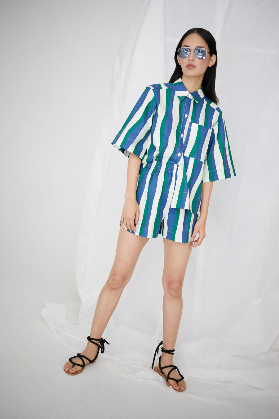 Rocky Short in Wavy Stripes