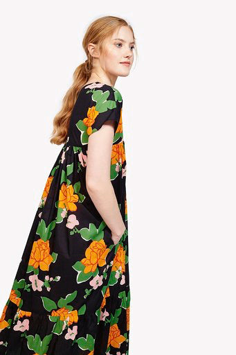Gillian Dress in Navy Hermosa Floral