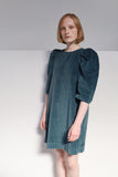CLARE DRESS IN CORDUROY MOSS