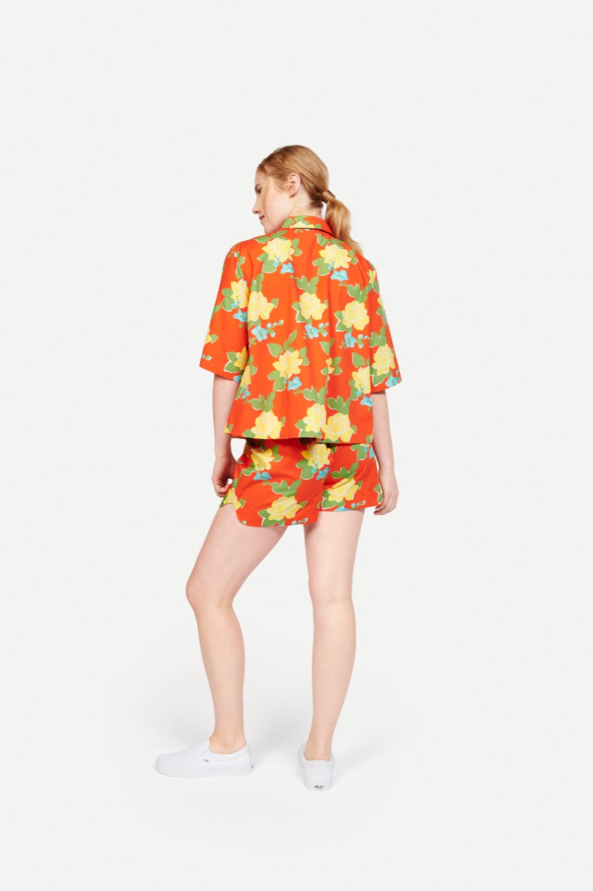 Beau Shirt Hermosa Floral Red/Yellow