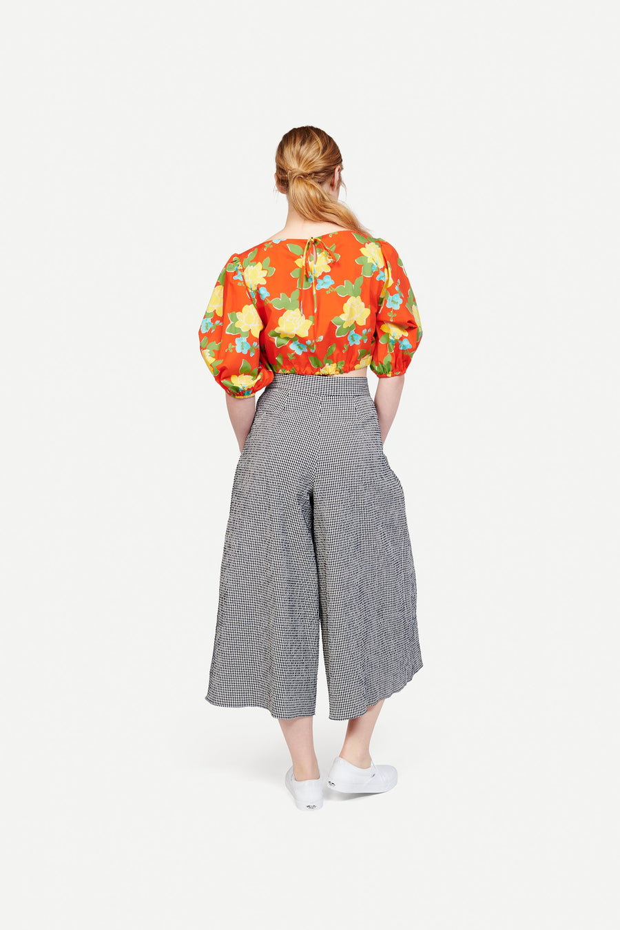 Tilden Top in Hermosa Floral Red/Yellow