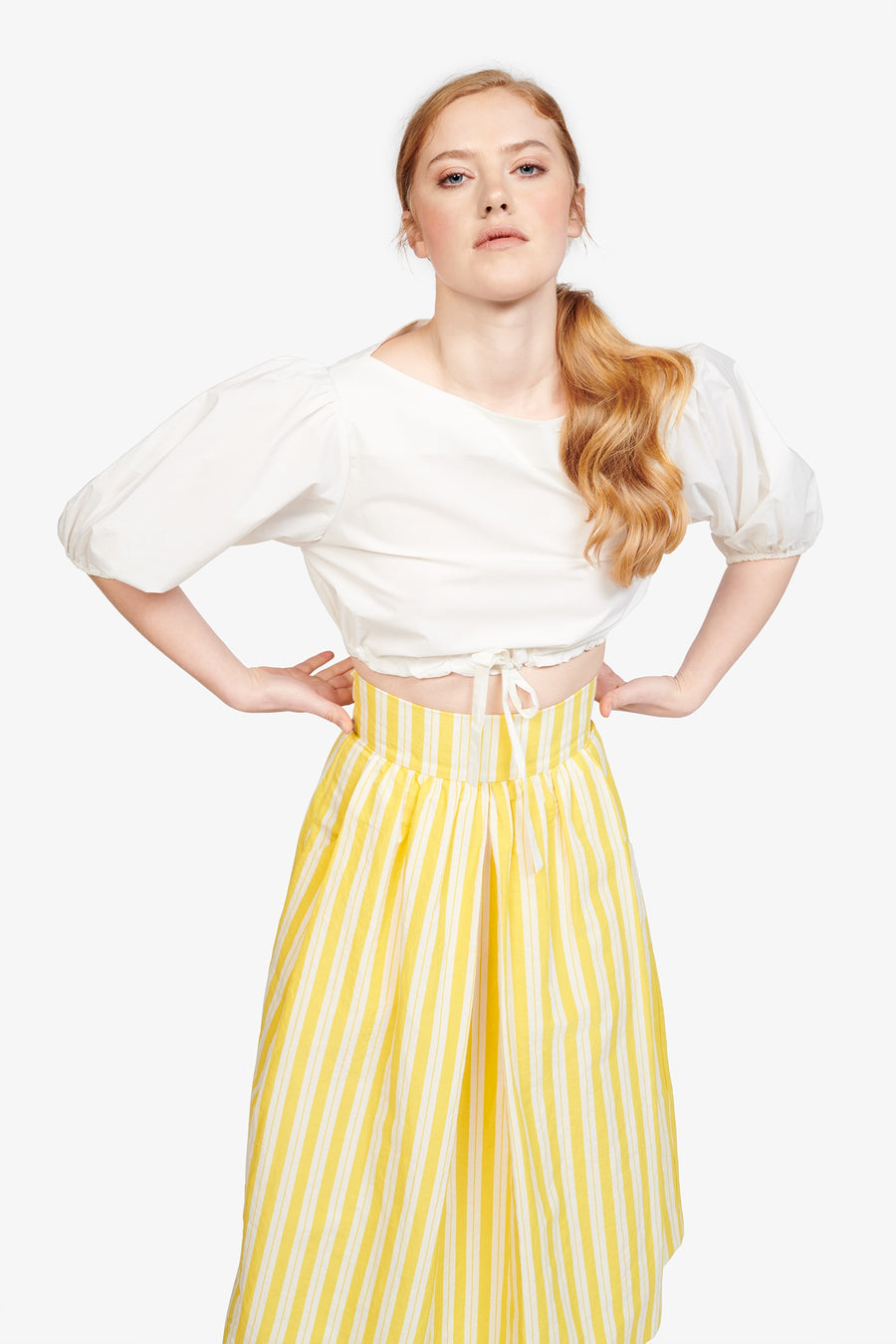 Kimani Skirt in Yellow Otto Stripe