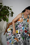 Ann Dress in Potted Plant Print