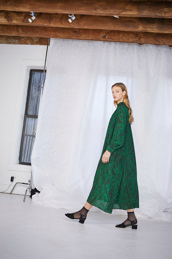 Anselm Dress in Malachite Emerald