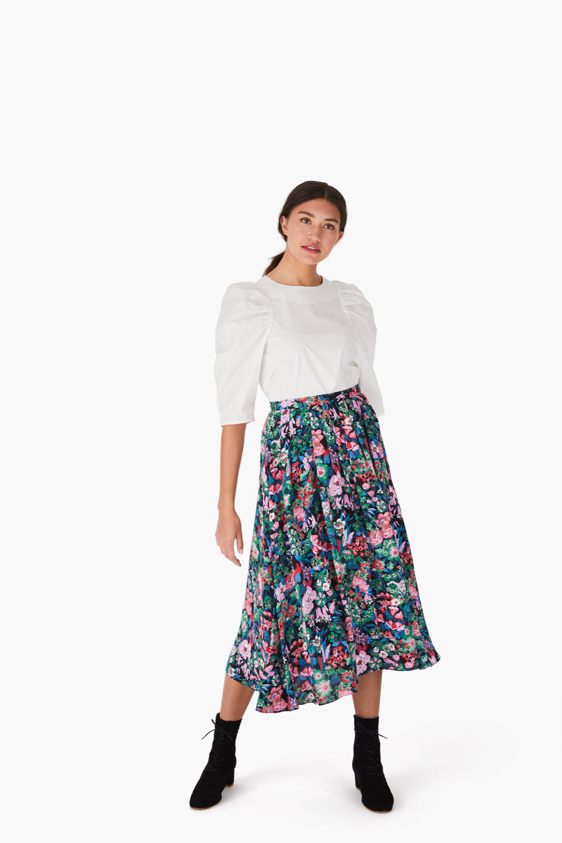 Branch Skirt in Nightfall Multi
