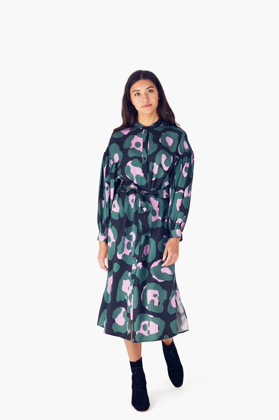 Etta Dress in Camo Jaguar