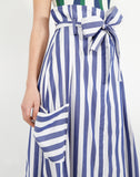 Pocket Skirt in Vertical Stripes