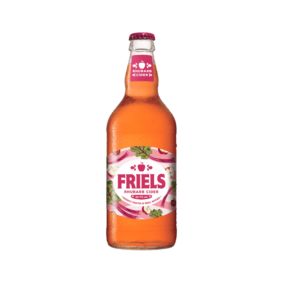 FRIELS RHUBARB CIDER 4% (8 X 500ML BOTTLES)