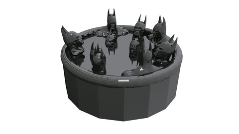 10 Batmen in a Hot Tub