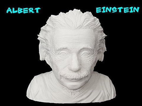 3D Printed Albert Einstein Bust Printed By 3D Cauldron