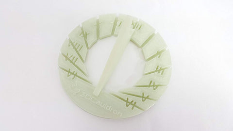 3D Printed Glow in the Dark Sundial