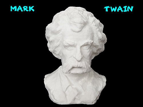 3D Printed Mark Twain Bust Printed by 3D Cauldron