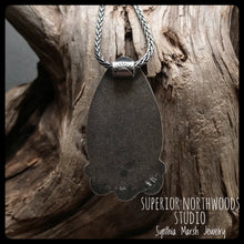 Load image into Gallery viewer, Kona Dolomite Pendant / Sterling Silver ~ Upper Peninsula Michigan ~ Marquette ~ Michigan Made